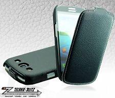 SLIM PU-Leder Schutz-Hülle Schwarz für Samsung Galaxy S3 i9300 Case Tasche Etui