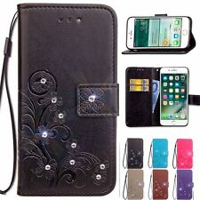 Vintage Clover Flower Wallet Flip Leather + TPU Cover Case For Samsung Galaxy