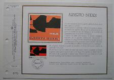 ALBERTO BURRI   Feuillet CEF Timbre 1er jour SOIE - 1992