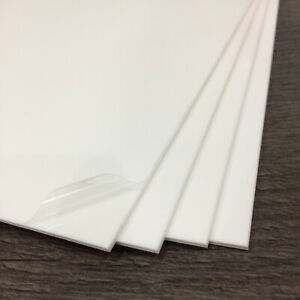 Plasticard - Styrene Sheets (HIPS) A4 White Plastic Sheets - 0.5mm to 4mm