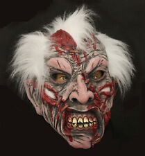 1981 White Hair Old Man Zombie Halloween High Quality Latex 3/4 Adult Mask