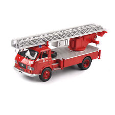 Diecast 1/43 Scale Pompiers Fire Truck Red Vehicles Car Display Toy Kids Gift