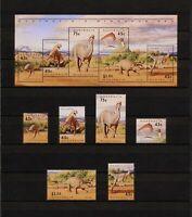 ✔️ (YYBD 228) Australia 1993 MNH Mich 1370 -5 Scott 1342 - 1347a Dinosaurs