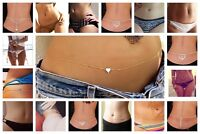 Women Belly Chain Waist Bikini Body Jewelry Rhinestone Back Chain Beach Harness