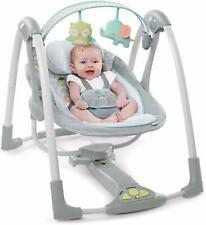 Ingenuity Baby Gear Swing And Go Portable Soothing Swing Sleeper Hugs & Hoots