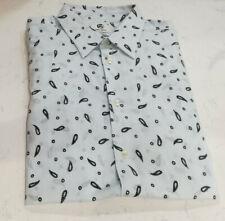 Men's Paul Smith PS Paisley Tailored Fit Shirt - Size Medium - Pale Blue