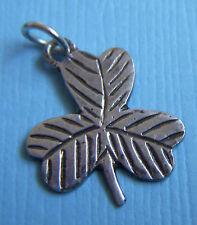 Vintage etched clover Ireland sterling charm