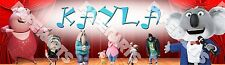 Personalized Sing Movie 2016 Custom Name Painting Poster Name Art Banner - Gift