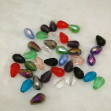 8X12 Teardrop Shape Tear Drop Glass Faceted Loose Crystal Beads mix