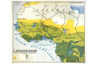 MAP of BLACK AFRICA in 1949 POSTCARD - FRENCH LANGUAGE - L'AFRIQUE NOIRE - NEW