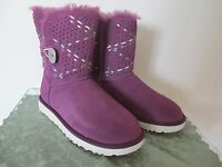 Ugg Australia women's purple  detailed suede New boots size 7