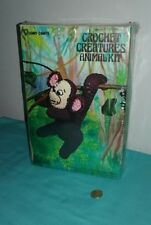 Vintage Vogart Crafts Crochet Creatures Animal Kit Monkey Style #3102 Sealed