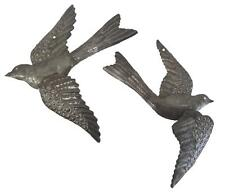 Handmade Haitian Metal Wall Art Garden Sculpture Hanging 3D Flying Bird Set