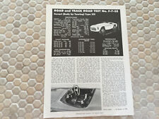 FERRARI 212 V12 BARCHETTA R&T ARTICLE BROCHURE 1951