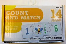 Count and match puzzle pairs preschool homeschool teacher supply