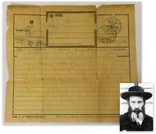 Old rare letter, document of Rabbi Yaakov Yechezkiya Greenwald Pupa Hungary 1938