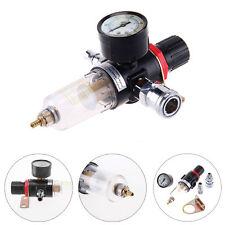 Kit 1/4'' Filtro de Aire Agua Regulador Compresor Presión Calibrador Manómetro