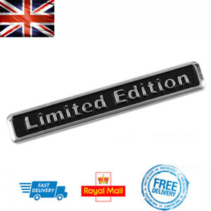 LIMITED EDITION 3D Boot Badge Emblem Car Sticker Auto Chrome Metal Self Adhesive