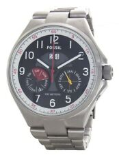 Fossil Men's Qualifier Silver Stainless-Steel Automatic Watch ME3051