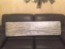 Boxed window pelmet 6ft in silver crush velvet  and sash