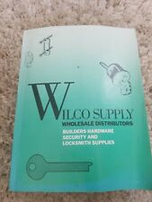 Vintage Locksmith Service Manual Wilco Supply Wholesale Schlage Ilco Yale Locks