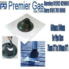 Aluminium Rubber Flashing slate pitched roof weather 600mm x 500mm vertical flue