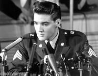 Elvis Presley in the Army Stretched Canvas Wall Art Movie Poster Print Icon