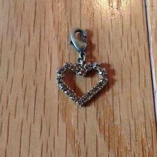 NEW SABIKA MODERN DIVE GOLD RHINESTONE HEART PENDANT CHARM RETIRED 2012 NWT