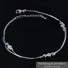 Ankle Bracelet Women 925 Sterling Silver Anklet Foot Jewelry Chain Beach Gift