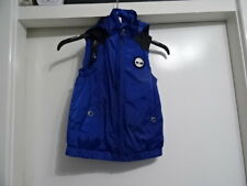 BOYS TIMBERLAND LEATHER MIX ZIP UP SLEEVELESS JACKET 5/110 5YRS GREAT CONDITION