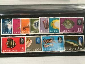 BARBADOS STAMPS - QE2 1966-1969 - PART SET TO $5 - 3 VALUES MISSING - UMM- (687)