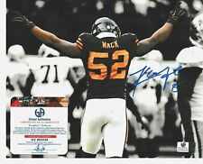CHICAGO BEARS KHALIL MACK 8X10 AUTOGRAPH AUTO SIGNED PHOTO AUTHENTICATED NM+