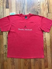 2003 Vintage Thanks Michael Career Accolades Jordan Retirement Shirt Red Size XL