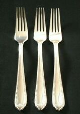 Lenox 18/10 Stainless Flatware BEAD pattern. 3 Dinner Forks