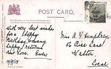 Gwen - Miss a. Humphreys, 56 Rice Lane, Walton 1905 BF384