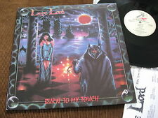 LP Liege Lord Burn to my Touch +OIS with Lyrics USA 1987 Cut Out   M-