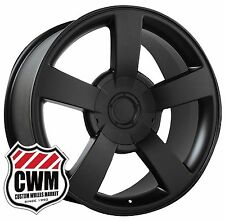 20 inch OE Performance 112B Chevy Silverado SS Wheels Matte Black Rims 6x5.50""