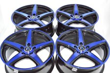 17 blue Wheels Rims IS300 Civic Legacy Eclipse Camry Forte Optima Avalon 5x114.3