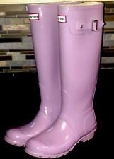HUNTER Original Tall Violet Lilac Lavender Purple Gloss Rain Boots Sz US 6 EUC
