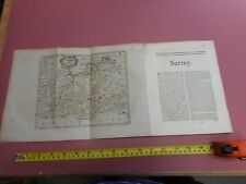 100% ORIGINAL SURREY LONDON MILAGE CHART, MAP AND ATLAS TEXT BY MORDEN C1720 VGC