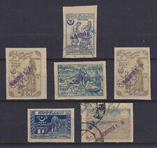 AZERBAIJAN 1922, BAKU LOCAL OVERPRINTS, 6 STAMPS, MOSTLY MINT