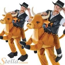 Step In Rodeo Bull Costume Unisex Animal Wild West Cowboy Fancy Dress Outfit