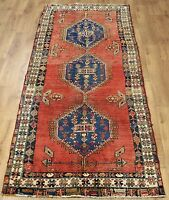 Traditional Vintage Wool Handmade Classic Oriental Area Rug Carpet 208 X 104 cm