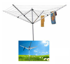 4 ARM 55MTR ROTARY CLOTH LINE ALUMINIUM AIRER MULTI HANGER GROUND SPIKED DRYER