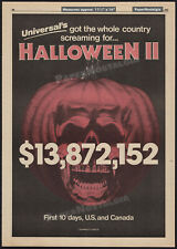 HALLOWEEN II__Original 1981 Trade AD / poster__First 10 Days__John Carpenter