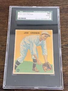 1933 GOUDEY JOE CRONIN #109 RED SOX HOFer GRADED SGC 4 VG-EX