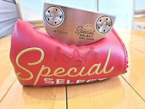 """Scotty Cameron Special Select Del Mar w/ Button Back Grip 1st Of 500 Putter 34"""""""