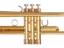 Bach Stradivarius Trumpet Trim Kit V6 Heavy Caps. KGUBrass. Raw Brass. TKV6R213