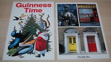 GUINNESS TIME Weihnachts-X-Mas-Card Doors of DUBLIN MOLLY MALONE 2 Postkarten