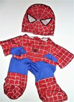 VTG BUILD A BEAR WORKSHOP SPIDERMAN COSTUME AND MASK 2007